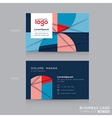 Abstract Business cards Design Template vector image vector image