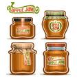 apple jam in glass jars vector image vector image