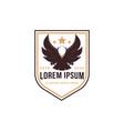 badge white eagle head logo icon template vector image vector image
