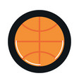 basketball ball sport equipment block and flat vector image vector image