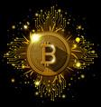 bitcoin mining set icons vector image vector image