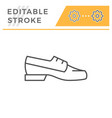 boat shoe editable stroke line outline icon vector image vector image