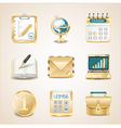 business icons gold vector image vector image