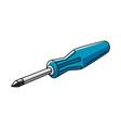 car screwdriver auto center vector image