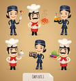 chefs set1 1 vector image vector image