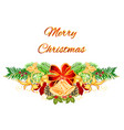 christmas and new year decorative christmas tree vector image