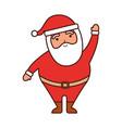 christmas happy santa claus waving hand funny vector image vector image