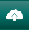 cloud icon internet download symbol flat on green vector image vector image