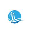 cruise ship logo template icon vector image vector image