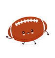 cute happy american football rugball vector image vector image