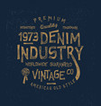 denim industry vector image vector image