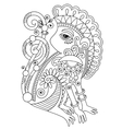 drawing of ethnic monkey in decorative ukrainian vector image vector image
