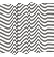 elegant stripe waves vector image vector image