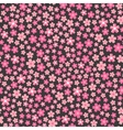flat design seamless pattern with pink flowers vector image vector image