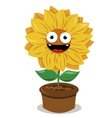 Funny Sunflower vector image vector image
