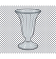 Glass flower vase isolated vector image
