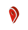 gps pin navigation social media isometric icon vector image