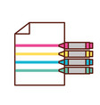 graphic design crayons color making lines on paper vector image