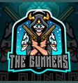 gunners esport mascot logo vector image vector image