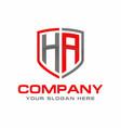 ha initial logo design vector image vector image