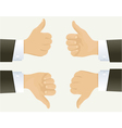 Hand showing okay sign vector image