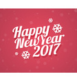 Happy New Year 2017 card vector image vector image