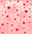 heart confetti valentines vector image vector image
