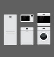 home appliances flat design vector image vector image