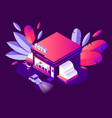 isometric 3d concept child toys store night vector image