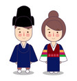 king and queen ceremonial traditional national vector image vector image