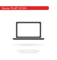laptop icon flat design style vector image vector image