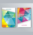 magazine brochure or flyer design with abstract vector image vector image