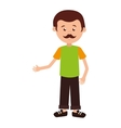 man cartoon adult isolated vector image