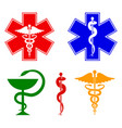 medical international symbols set star of life vector image vector image