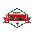 merry christmas greeting event emblem vector image vector image