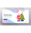 new year party preparation website landing page vector image vector image