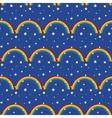 Night sky kid seamless pattern