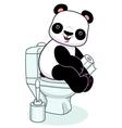 Panda in toilet vector image