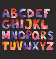 pastel alphabet letters isolated on black vector image vector image