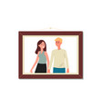 photo couple - man and woman characters flat vector image