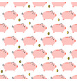 piggy bank simple seamless pattern vector image vector image