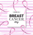 Pink breast cancer awareness design vector image vector image