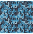 Pixel camo seamless pattern Fashion blue trendy