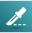 Scalpel knife surgery Icon on Square Button vector image