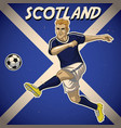 scotland soccer player with flag background vector image vector image