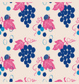 seamless pattern with bunch grapes vector image vector image