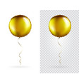 set golden round shaped foil balloons vector image