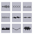 set of waves graphics vector image vector image