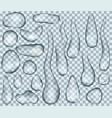 set water drops vector image