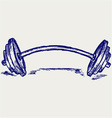 Sketch dumbbell weight vector image vector image